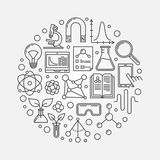 Vector science round illustration Stock Photos