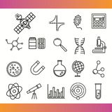 Vector scientific icons Stock Images