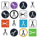 Vector scissors icons Stock Photography