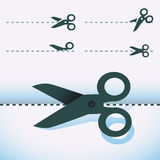 Vector scissors icons Royalty Free Stock Photos