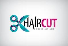Vector scissors logo, icon Royalty Free Stock Image