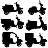 Vector Scooter Contour royalty free illustration