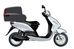 Vector scooter mock-up. Vector scooter mockup. Available EPS-10 format separated by groups and layers vith transparency effects for one-click repaint vector illustration