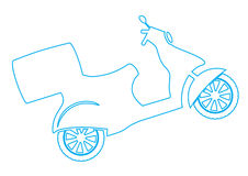 Vector Scooter Stock Images