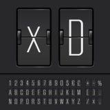 Vector scoreboard alphabet Stock Photo