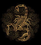 Vector Scorpion tattoo Royalty Free Stock Photos