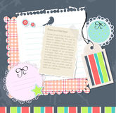 Vector scrabook set of elements Royalty Free Stock Photography