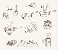 Vector scrambled sketches set Stock Image
