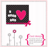 Vector scrap card Stock Images