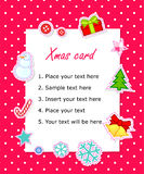 Vector scrapbook Christmas  card Stock Images