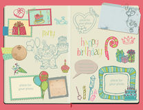Vector Scrapbook Design Elements Stock Image