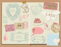Vector Scrapbook Design Elements - Happy Birthday Royalty Free Stock Photos