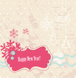 Vector scrapbook New Year card Royalty Free Stock Image