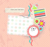 Vector scrapbook pagge for girl album Stock Images