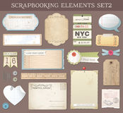 Vector Scrapbooking Elements Set 2 Stock Images