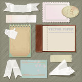 Vector scrapbooking paper set Stock Images