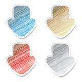 Vector scratch arrow stickers. Color scratch arrow stickers - vector illustration Stock Photo