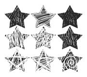 Vector scratch grunge stars for design elements.  eps 10. Vector scratch grunge stars for design elements.  eps 10 Royalty Free Stock Image