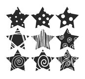 Vector scratch grunge stars for design elements.  eps 10. Vector scratch grunge stars for design elements.  eps 10 Stock Photo