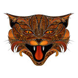 Vector screaming fire cat Stock Photography