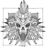 Screaming skull vector Stock Images