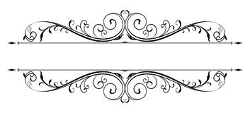 Vector Scroll Accent Royalty Free Stock Images