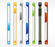 Vector scroll bar, scrollbar, slider. Stock Photography