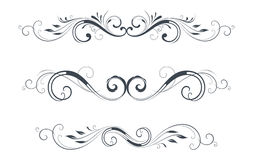 Vector Scroll Set Royalty Free Stock Images
