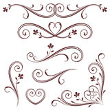 Vector Scroll Set Royalty Free Stock Photography