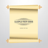 Vector scrolled old paper illustration. Stock Photos