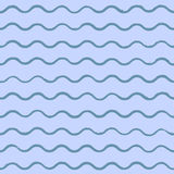 Vector sea background with blue waves, drawn by hand with ink. Vector sea background with blue waves, drawn by hand with acrylic ink. For design creative Royalty Free Stock Image