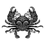 Vector Sea Crab. Patterned design Stock Photo