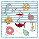 Vector Sea Elements. Can be used for scrapbooking travel album Stock Image