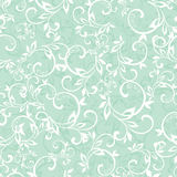 Vector Sea Green Swirly Braches Seamless Pattern Stock Image
