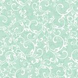 Vector Sea Green Swirly Braches Seamless Pattern Stock Image