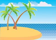 Vector sea and island Stock Photos