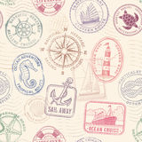 Vector sea journey vintage texture Stock Photography