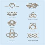 Vector sea knots set Royalty Free Stock Photography