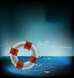 Vector sea lifebuoy Stock Photos