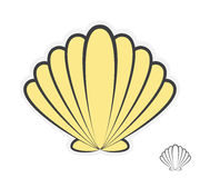 Vector sea shell logo Stock Photo