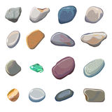 Vector sea stones isolated on white background vector illustration