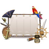 Vector Seafaring Frame with Sail Stock Photo