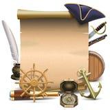 Vector Seafaring Frame Royalty Free Stock Photos