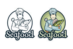 Vector seafood logo. Stock Photo