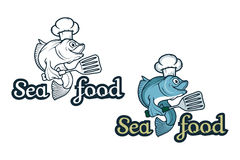 Vector seafood logo. Stock Images