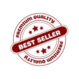 Vector Seal Stamp: Best Seller. Red Circle Stamp. royalty free stock photography