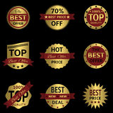Vector seals-stickers set Stock Photography