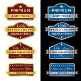 Vector seals-stickers set Royalty Free Stock Photos