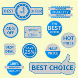 Vector seals-stickers set Royalty Free Stock Image