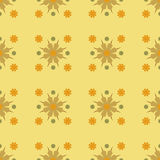 Vector Seamles Geometric Yellow Flower Pattern. A Vector Seamles Geometric Yellow Flower Pattern Royalty Free Stock Photography